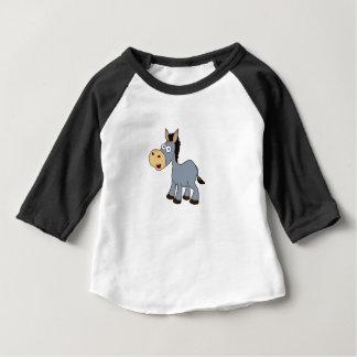 Camiseta Para Bebê arte cinzenta do cavalo