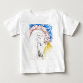 Camiseta Para Bebê Arte da aguarela do cavalo