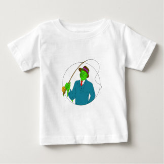 Camiseta Para Bebê Arte da camada de sujidade do carretel de Rod de