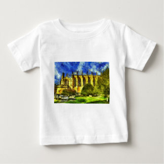 Camiseta Para Bebê Arte da capela da faculdade de Eton