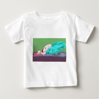 Camiseta Para Bebê Arte de descanso do balé
