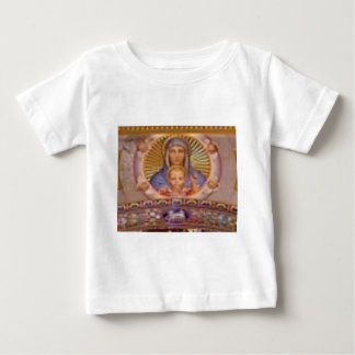 Camiseta Para Bebê arte de mary e de criança