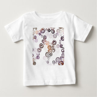 Camiseta Para Bebê Arte de roda roxa Groovy