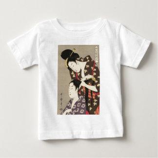Camiseta Para Bebê Arte de Utamaro Yuyudo Ukiyo-e do cabeleireiro das
