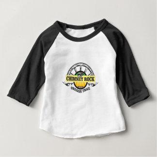Camiseta Para Bebê arte do amarelo da rocha da chaminé