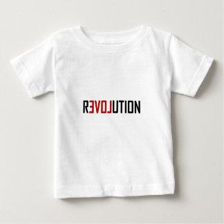 Camiseta Para Bebê Arte do amor da revolução