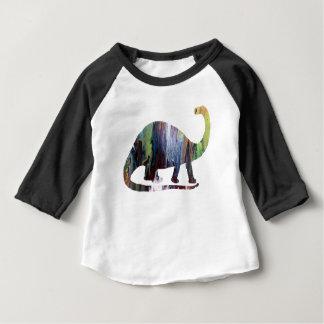 Camiseta Para Bebê Arte do Brontosaurus