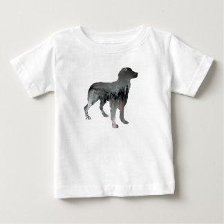 Camiseta Para Bebê Arte do cão de Brittany