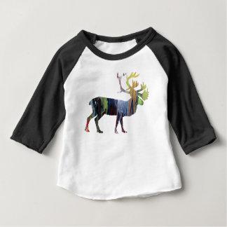 Camiseta Para Bebê Arte do caribu