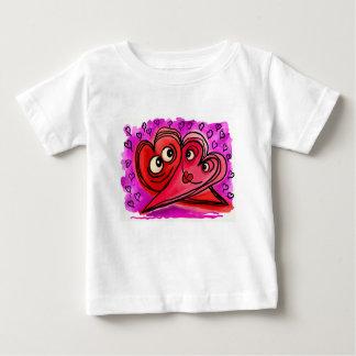 Camiseta Para Bebê Arte do casal do coração