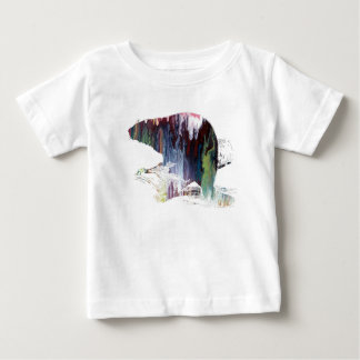 Camiseta Para Bebê Arte do castor