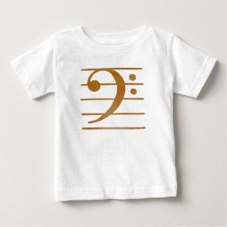 Camiseta Para Bebê Arte do Clef baixo