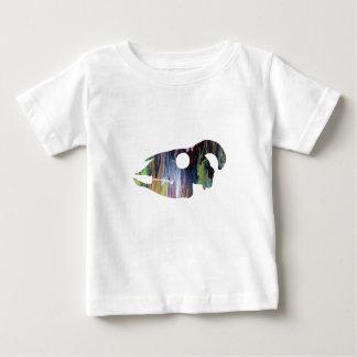 Camiseta Para Bebê Arte do crânio da cabra