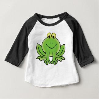 Camiseta Para Bebê arte do divertimento do sapo dos desenhos animados