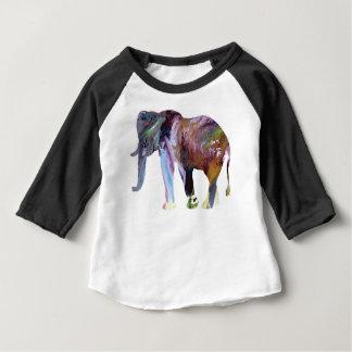 Camiseta Para Bebê Arte do elefante
