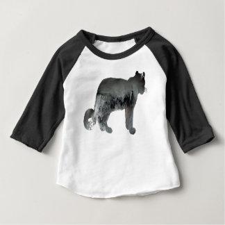 Camiseta Para Bebê Arte do leopardo de neve