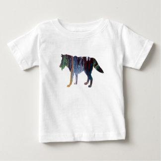 Camiseta Para Bebê Arte do lobo
