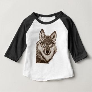 Camiseta Para Bebê Arte do nerd do lobo