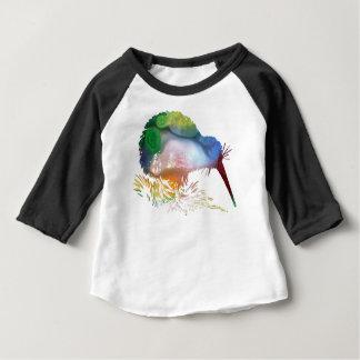 Camiseta Para Bebê Arte do pássaro do quivi