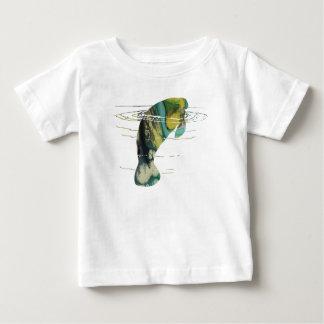 Camiseta Para Bebê Arte do peixe-boi