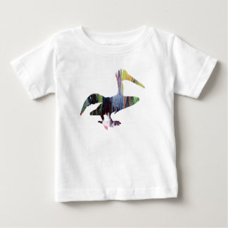Camiseta Para Bebê Arte do pelicano