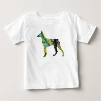 Camiseta Para Bebê Arte do Pinscher do Doberman