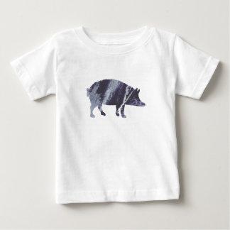 Camiseta Para Bebê Arte do porco