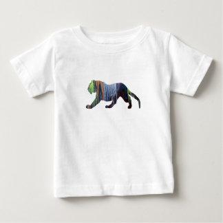 Camiseta Para Bebê Arte do tigre