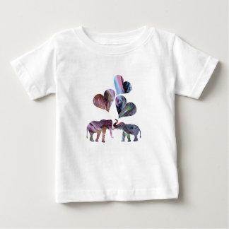 Camiseta Para Bebê arte dos elefantes