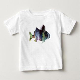 Camiseta Para Bebê Arte dos peixes (vara)