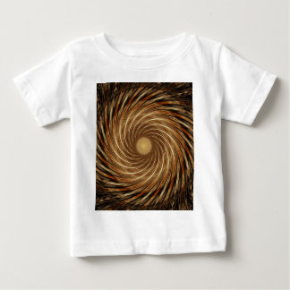 Camiseta Para Bebê Arte espiral preta do caleidoscópio da onda de