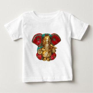 Camiseta Para Bebê Arte indiana do templo Hindu da estátua de bronze