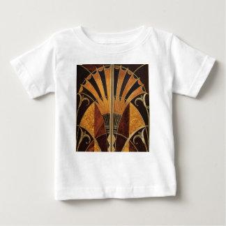 Camiseta Para Bebê arte Nouveau, art deco, vintage, cores de madeira,