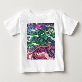 Camiseta Para Bebê Arte topográfica II do lenço de papel