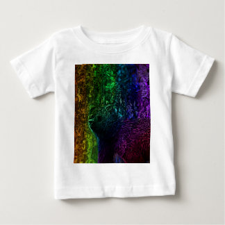 Camiseta Para Bebê Arte vibrante do urso
