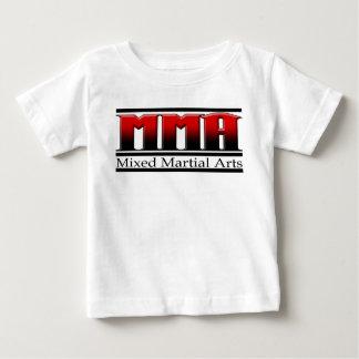 Camiseta Para Bebê Artes marciais misturadas preto & vermelho do