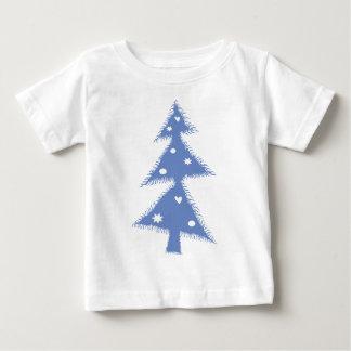 Camiseta Para Bebê árvore azul do Xmas