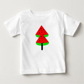 Camiseta Para Bebê árvore de fruta da melancia