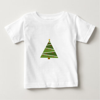 Camiseta Para Bebê Árvore de Natal simples mas bonita