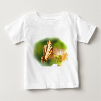 Camiseta Para Bebê árvore do mimosa da borboleta
