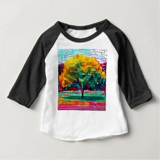 Camiseta Para Bebê Árvore do outono em cores vívidas