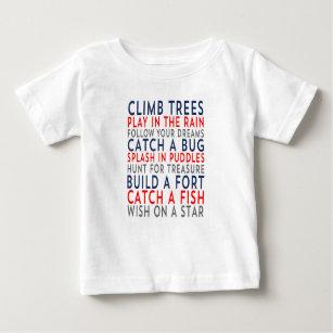 Camiseta Para Bebê Árvores 01 da escalada