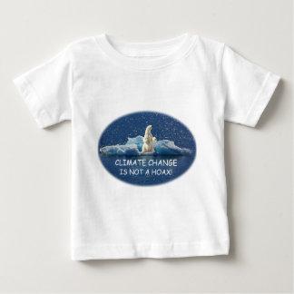 Camiseta Para Bebê AS ALTERAÇÕES CLIMÁTICAS NÃO SÃO um urso polar do