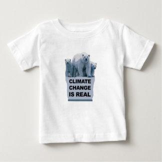 CAMISETA PARA BEBÊ AS ALTERAÇÕES CLIMÁTICAS SÃO REAIS