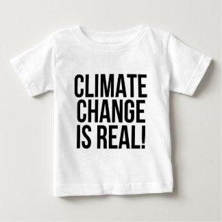 Camiseta Para Bebê As alterações climáticas são reais! Mundo da terra