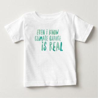 Camiseta Para Bebê As alterações climáticas são t-shirt real do