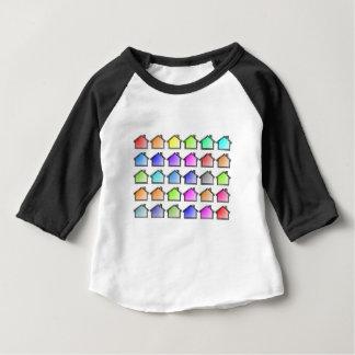 Camiseta Para Bebê As casas dirigem fileiras