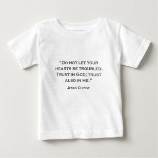 Camiseta Para Bebê AS CITAÇÕES JESUS 01 não deixam seus problemas
