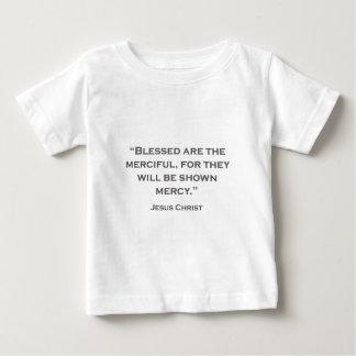 Camiseta Para Bebê AS CITAÇÕES JESUS 04 Blessed são as clementes