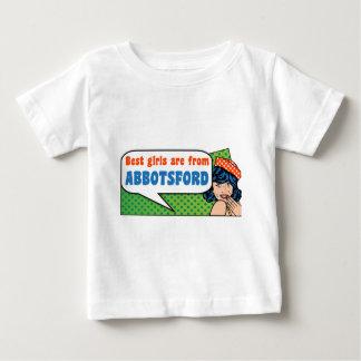Camiseta Para Bebê As melhores meninas são de Abbotsford